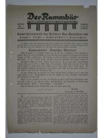 Der Rammbär - Nachrichtendienst des Brücken Bau Bataillons 646 - Nr. 1 - 1939 - Erstausgabe