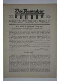 Der Rammbär - Nachrichtendienst des Brücken Bau Bataillons 646 - Nr. 5 - 1939