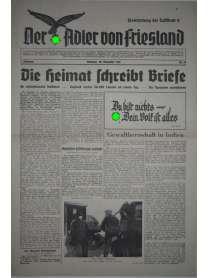 Der Adler von Friesland - Frontzeitung der Luftflotte 2 - Nr. 73 - 28. November 1939