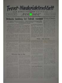 """Front-Nachrichtenblatt der Armee-Zeitung """"DER SIEG"""" - Nr. 195 - 15. September 1942"""