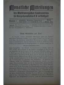 Monatliche Mitteilungen - Kriegerheimstätten - Nr. 2 - Januar 1917