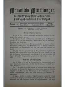 Monatliche Mitteilungen - Kriegerheimstätten - Nr. 4 - März 1917