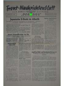 """Front-Nachrichtenblatt der Armee-Zeitung """"DER SIEG"""" - Nr. 205 - 26. September 1942"""