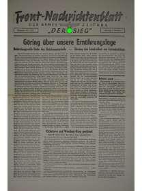 """Front-Nachrichtenblatt der Armee-Zeitung """"DER SIEG"""" - Nr. 212 - 5. Oktober 1942"""