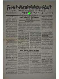 """Front-Nachrichtenblatt der Armee-Zeitung """"DER SIEG"""" - Nr. 213 - 6. Oktober 1942"""
