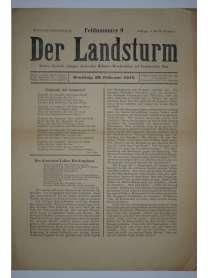Der Landsturm - Feldnummer 9 - 28. Februar 1915