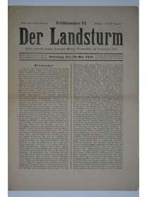 Der Landsturm - Feldnummer 13 - 25. Mai 1915