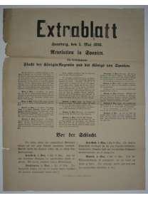 Extrablatt - Hamburg - 5. Mai 1898 - Revolution in Spanien