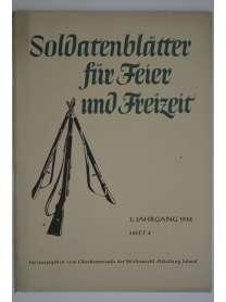 Soldatenblätter für Feier und Freizeit - Heft 3 - 1942