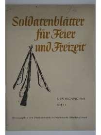 Soldatenblätter für Feier und Freizeit - Heft 4 - 1942