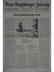 Neue Augsburger Zeitung - Nr. 300 - 23. Dezember 1939 - Kriegsweihnacht