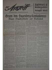 Der Angriff - Einmaliger Sonderdruck - 1932