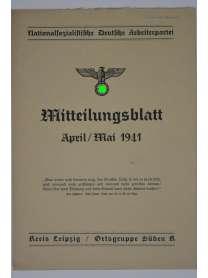 Mitteilungsblatt - April/Mai 1941 - Kreis Leipzig / Ortsgruppe Süden K - NSDAP