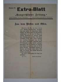 """Extra-Blatt der """"Sangerhäuser Zeitung"""" - Nr. 29 - 25. Dezember 1914"""