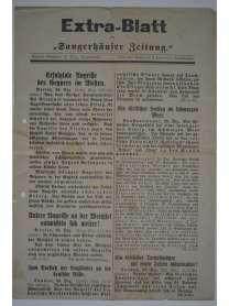 """Extra-Blatt der """"Sangerhäuser Zeitung"""" - 28. Dezember 1914"""