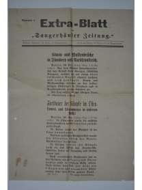 """Extra-Blatt der """"Sangerhäuser Zeitung"""" - Nr. 1 - 30. Dezember 1914"""