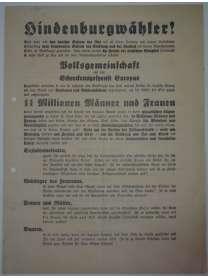 Wahlflugblatt - NSDAP - April 1932 - Reichpräsidentenwahl - Adolf Hitler