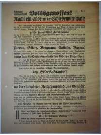 Flugblatt Volksentscheid - Young-Plan - DNVP - NSDAP - Stahlhelm - Oktober 1929 - Sklarek-Skandal