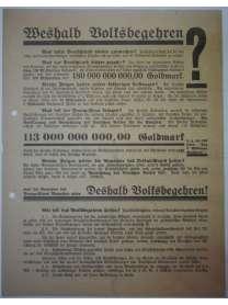 Flugblatt Volksentscheid - Young-Plan - DNVP - NSDAP - Stahlhelm - Oktober 1929