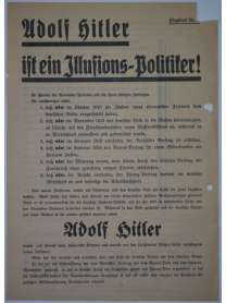 Wahlflugblatt - NSDAP - um 1932 - Adolf Hitler