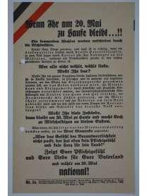 Wahlflugblatt - Reichstagswahl - 20. Mai 1928 - Nr. 54 - Deutschnational