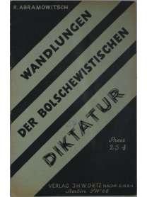 Kleinschrift - Wandlungen der bolschewistischen Diktatur - Raphael Abramowitsch - 1931