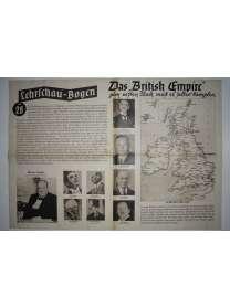 Lehrschau-Bogen - Nr. 28/28a - England - British Empire
