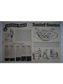 Lehrschau-Bogen - Nr. 18/18a - Rohstoff Knochen