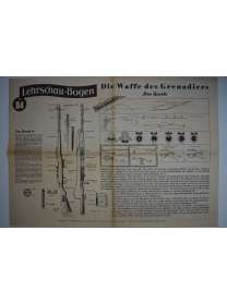 Lehrschau-Bogen - Nr. 84/84a - Grenadier - Gewehr 41