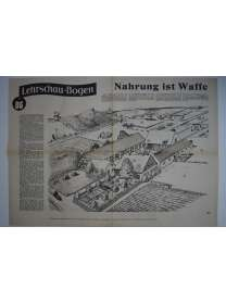 Lehrschau-Bogen - Nr. 86/86a - Nahrung ist Waffe