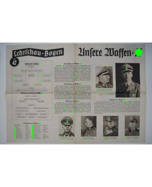 Lehrschau-Bogen Nr. 42/42a Waffen-SS-21