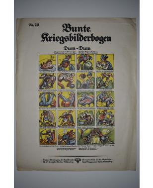 Bunte Kriegsbilderbogen Dum-Dum Nr. 22 1915-21
