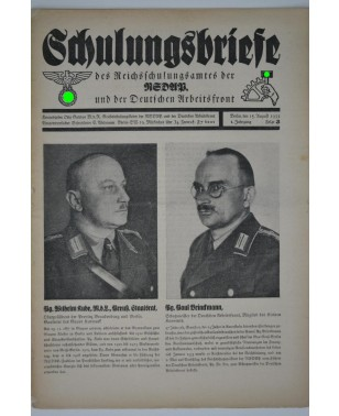 Schulungsbriefe Folge 3 15. August 1933-21