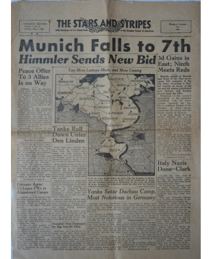 Amerikanische Armeezeitung The Stars and Stripes Nr. 27 1. Mai 1945-21
