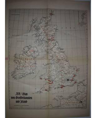 Völkischer Beobachter Karte Großbritannien und Irland Mittelmeer-20