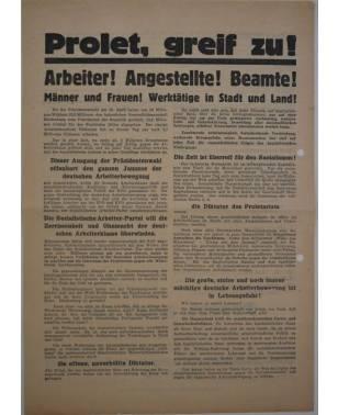Wahlflugblatt Sozialistische Arbeiterpartei Deutschlands SAP 31. Juli 1932 Wahl zum 6. Reichstag Max Seydewitz-20