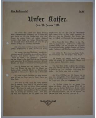 Flugblatt Unser Kaiser 27. Januar 1929 Nr. 29-20