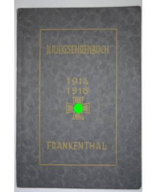 Kriegsehrenbuch 1914-1918 Frankenthal 1936-20