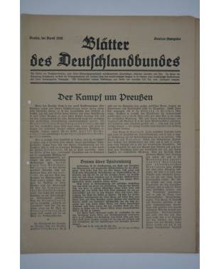 Blätter des Deutschlandbundes Sonder-Ausgabe April 1932-20