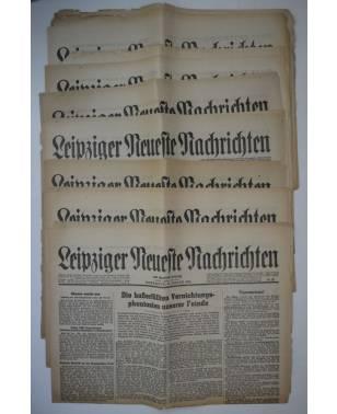 Konvolut Leipziger Neueste Nachrichten 12 Stück 1945-20