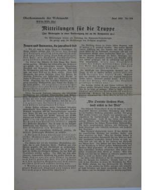 Mitteilungen für die Truppe Oberkommando der Wehrmacht Nr. 114 Juni 1941-20