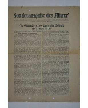 """Sonderausgabe des """"Führer"""" 24. April 1928-20"""