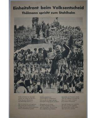 Flugblatt Volksentscheid zur Auflösung des preußischen Landtages August 1931-20