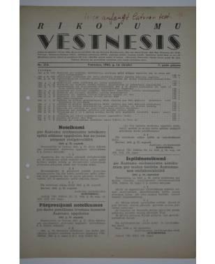 Rīkojumu Vēstnesis Nr. 213 16. Oktober 1942-20