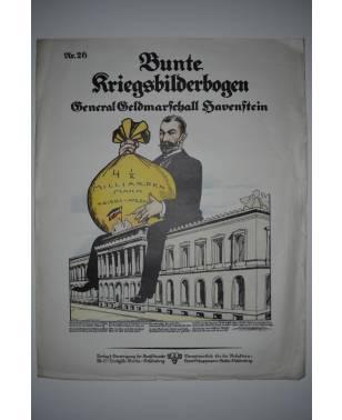 Bunte Kriegsbilderbogen General Geldmarschall Havenstein Nr. 26 1915-20