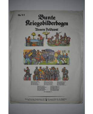 Bunte Kriegsbilderbogen Unsere Feldpost Nr. 47 1915-20