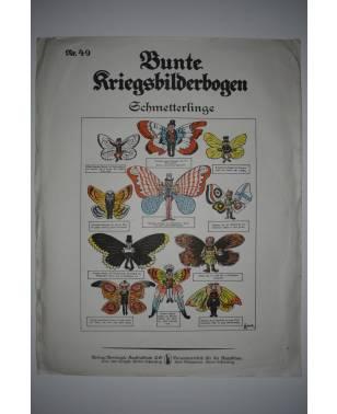Bunte Kriegsbilderbogen Schmetterlinge Nr. 49 1915-20