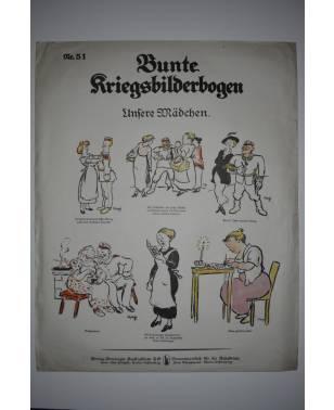 Bunte Kriegsbilderbogen Unsere Mädchen Nr. 51 1915-20