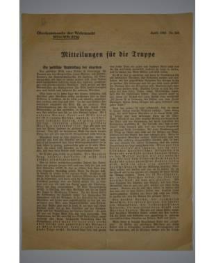 Mitteilungen für die Truppe Oberkommando der Wehrmacht Nr. 258 April 1943-20