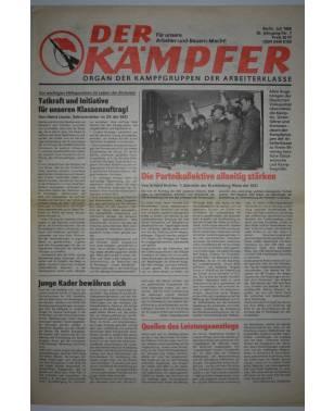 Der Kämpfer Organ der Kampfgruppen der Arbeiterklasse Nr. 7 Juli 1986-20